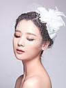 Women\'s Tulle / Fabric Headpiece-Wedding / Special Occasion Birdal Fascinators 1 Piece