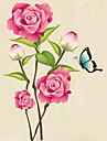 Djur Botanisk Stilleben Mode Blommig Fritid Väggklistermärken Väggstickers FlygplanDekrativa Väggstickers Klistermärken för kylskåp