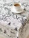 global karta mönster duk mode Hotsale hög kvalitet bomull linne kvadrat kaffe duk täcka handduk