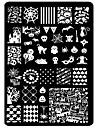 Nail Art Stamping Plate Stamper Scraper 14.5cm*9.5cm