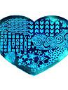 bluezoo kärlek blå nail art stämpling (13)