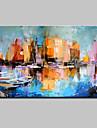 Peint a la main Paysages Abstraits Peintures a l\'huile,Moderne Un Panneau Toile Peinture a l\'huile Hang-peint For Decoration d\'interieur