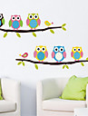 Animaux Nature morte Mode Loisir Stickers muraux Autocollants avion Autocollants muraux decoratifs Materiel AmovibleDecoration