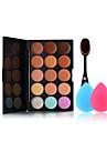 15 färger concealer paletten makeup tandborste och små storlek makeup svampar