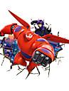Tecknat Former fantasi 3D abstrakt Väggklistermärken Väggstickers Flygplan Dekrativa Väggstickers Material Kan tas bort Kan ompositioneras
