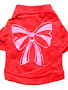 Chat / Chien T-shirt Rouge Vetements pour Chien Ete Noeud papillon Mode