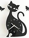 Rond Moderne/Contemporain / Decontracte / Bureau / Affaires Horloge murale,Vacances / Niches / Inspire / Mariage / Famille /