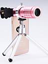 universell 12 × teleskop lins för mobiltelefoner iphone / samsung silver / guld / Rose / svart