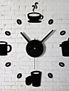 3D Free Combination Removable Wall Stickers Living Room Wall Clock Mirror