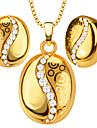 Pendentifs Metallique / Cristal Round Shape Dore 50