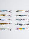 10 pcs Poissons nageur/Leurre dur Appat metallique Gabarit leurres de peche Appat metallique Poissons nageur/Leurre dur GabaritNoir Vert