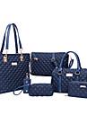 Dam PU / Nylon Formell / Ledig / Kontor / Shopping Axelremsväska / Stor väska / Skolväska / Clutch-väska / bag setLila / Blå / Röd /