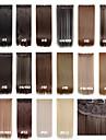klipp i hårförlängningar 24inch 60cm 120g 5clips långt rakt syntetiskt hår syntetiskt hår förlängning 16 färger
