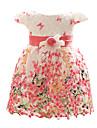 roșu / albastru / fucsie rochie copil fată, poliester florale toate anotimpurile