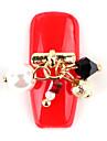 den nya manikyr kristall diamant diamant hänge pärla nagellack lim handgjorda manikyr legerat verktygs