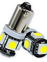 10pcs Jiawen / lot BA9S 0.8W 5x5050smd 55lm pour ampoule de voiture (DC12V)