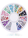 Fashion Wonem New Hot Sale Mix Sizes DIY 3D Nail Art Decoration Acrylic Glitter Colorful Rhinestone