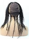 12 Svart Spetsfront Lockigt Mänskligt hår Stängning Medium Brun Schweizisk spets 100g gram Petite / Medel Cap Storlek