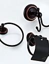 Set Accesorii Baie / Inel Prosop / Suport Hârtie Toaletă / Agățătoare Capot / Încălzitor Prosop,Antic Bronz  Ulei Montare Perete