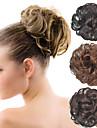 lockig brud updo chignon fluffig bulle syntetiskt hår förlängningar stycken för svarta kvinnor fler färger