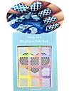1 Autocollant d\'art de clou Bouts  pour ongles entiers Bijoux pour ongles Bande dessinee Adorable Mariage Maquillage cosmetiqueNail Art