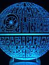 vaknar! flerfärgade död stjärna bordslampa 3d död stjärna bulbing ljus för star wars
