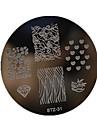 Nail Art Stamping Plate Stamper Scraper 5.5*5.5cm