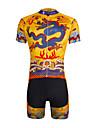 ILPALADINO Maillot et Cuissard de Cyclisme Homme Unisexe Manches Courtes Velo Maillot Cuissard  / Short Ensemble de Vetements Sechage