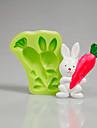 Moule de Cuisson Cartoon 3D Pour Gateau For Chocolate Pour Tarte Pour Cookie Silikon Ecologique Paques Haute qualite