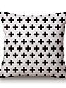Coton/Lin Housse de coussin,Geometrique / Imprimes Photos Moderne/Contemporain / Decontracte