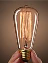 ST64 E27 40W glödlampa tappning Edison glödlampa för restaurang club kaffebarer ljus (220-240)