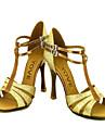 Chaussures de danse(Noir Bleu Rouge Argent Or) -Personnalisables-Talon Personnalise-Paillette Brillante-Latine Salsa