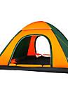 3-4 personer Tält Trippel Automatisk Tält Ett Rum Tält >3000mm Fuktighetsskyddad Vattentät Mateial som andas Väl ventilerad-Camping