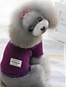 Hundar Tröjor Röd / Grön / Purpur Hundkläder Vinter Enfärgat Håller värmen