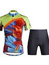 PALADIN® Cykeltröja med shorts Dam Kort ärm CykelAndningsfunktion / Snabb tork / Ultraviolet Resistant / Kompression / Lättviktsmaterial