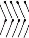 10 pcs connecteur femelle cable metallique rgb conduit bandes de lumiere rgb pour smd 5050/3528 rgb bande a conduit la lumiere