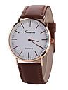Men\'s White Case Leather Band Analog Quartz Wrist Watch Cool Watch Unique Watch Fashion Watch