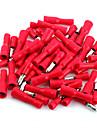 50 x röd hane hona kula kontakt kabelskor ledningar