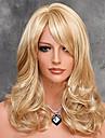 heta försäljning syntetisk peruk högsta kvalitet mjuka naturliga peruk blond peruk elegant släta hår peruk