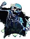 autocollants de voiture, squelette personnalite du corps autocollants
