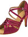 Chaussures de danse(Bleu / Violet) -Personnalisables-Talon Personnalise-Satin-Latine / Salsa