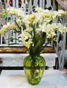 1 Une succursale Polyester Plastique Orchidees Fleur de Table Fleurs artificielles 59(23.2\'\')