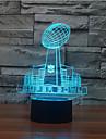 super bowl kontakt mörkläggning 3D LED nattlampa 7colorful dekoration atmosfär lampa nyhet belysning jul ljus