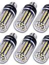 12W E14 E12 E26/E27 Ampoules Mais LED T 130 SMD 5736 1500 lm Blanc Chaud Blanc Froid Decorative AC 85-265 AC 100-240 AC 110-130 V 6 pieces