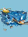 3D Wall Stickers Väggstickers Flygplan / Väggstickers i 3D Dekrativa Väggstickers,PVC Material Kan tas bort Hem-dekoration vägg~~POS=TRUNC