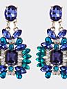La modă Vintage Cristal Argilă Aliaj Geometric Shape Albastru Bijuterii Pentru Petrecere Zilnic Casual 1 pereche