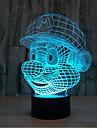 star wars Mario touch med mörkläggning 3D LED nattlampa 7colorful dekoration atmosfär lampa nyhet belysning jul ljus