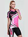 MYSENLAN® Cykeltröja med shorts Dam Kort ärm CykelAndningsfunktion Snabb tork UV-Resistent Fuktgenomtränglighet Hög andningsförmåga