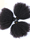 "6a mongoliska kinky lockigt jungfru hår 3 st mongoliska afro kinky lockigt hår 10 ""-26"" mänskliga hårförlängningar"