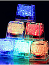 couleur 12pcs cubes de glace changeant conduit fete de mariage lumiere bar restaurant noel